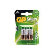 Батарея GP Super Alkaline 4xAAA...