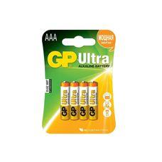 Батарея GP Ultra Alkaline 4xAAA...